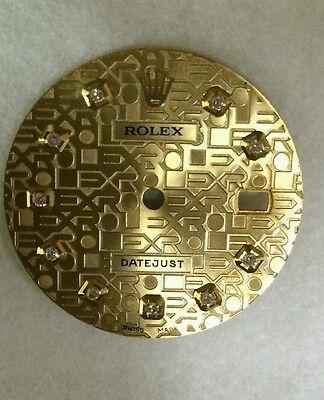 Rolex men's datejust  champagne  jubilee  custom diamond dial 2-T