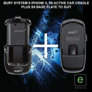 bury s9 system 9 active car cradle kit to suit iphone 5 5s. Black Bedroom Furniture Sets. Home Design Ideas
