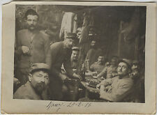 PHOTO ANCIENNE - VINTAGE SNAPSHOT - MILITAIRE NANCY WW1 POILUS TRANCHÉES REPAS