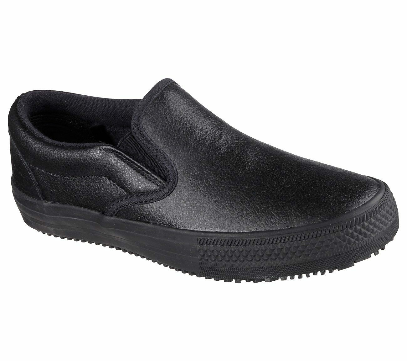 Skechers Gibson-Brogna Femme 76559 BLK noir Antidérapant Slip On chaussures