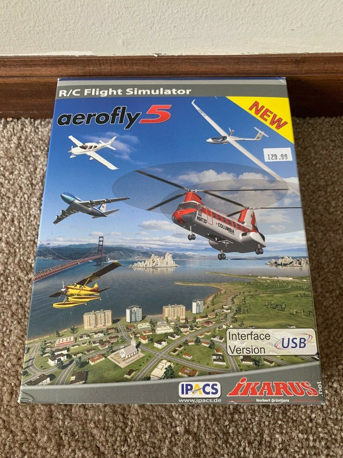nuovo  Ikarus Aerofly 5 volo Simulator for Windows USB-Interface Version  fabbrica diretta