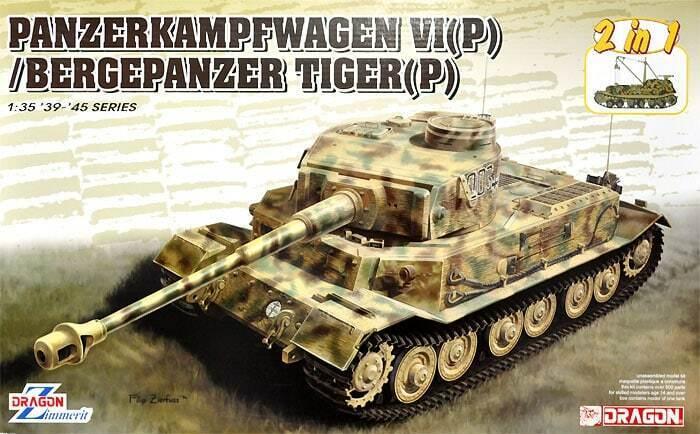 DRAGON 1 35 KIT CARRO ARMATO PANZERKAMPFWAGEN VI(P)   BERGEPANZER TIGER(P)  6869