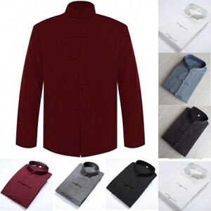 1b2ab2fc16 Men s Cotton Traditional Chinese Tang Suit Coat Kung Fu Tai Chi ...