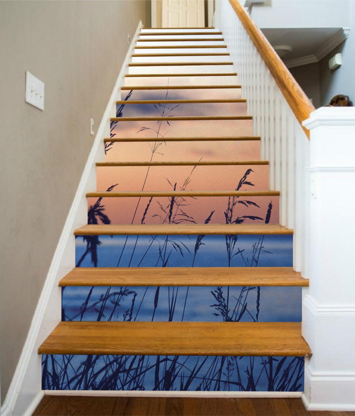 3D Meer Unkraut 330 Stair Risers Dekoration Fototapete Vinyl Aufkleber Tapete DE