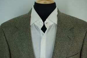 Brooks-Brothers-Beige-Blue-Herringbone-Sport-Coat-Jacket-Sz-39S