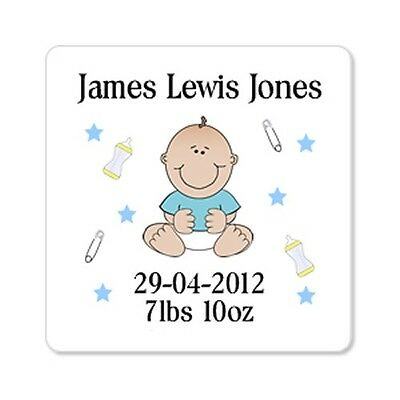 Personalised Fridge Magnet Birth Baby Girl Baby Boy Newborn Keepsake Gift