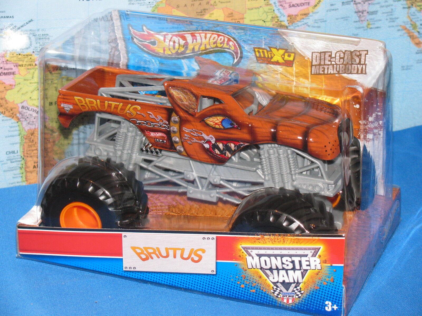 1 24 Hot Wheels Confiture de Monstre Brutus Max-D Moulé