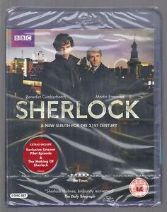SHERLOCK-Complete-Series-1-UK-BLU-RAY-sealed-new-BBC-MARTIN-FREEMAN