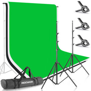 Neewer 8.5ft X 10ft Background Stand Support System Kit with 6ft X 9ft Backdrop