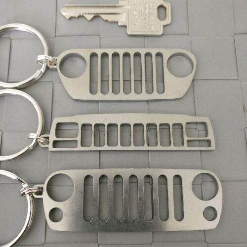 Jeep TJ JK YJ CJ BU XJ WJ Grill Key Rings Laser Cut Keychains