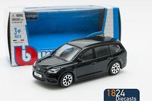 Ford-Focus-Estate-en-negro-Bburago-18-30226-escala-1-43-coche-de-juguete-modelo-de-Regalo-Nino