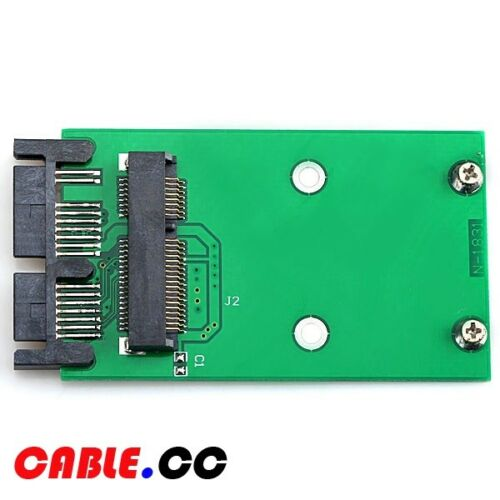 "Cablecc Mini PCI-E mSATA SSD to 1.8/"" Micro SATA 7+9 16pin Adapter PCBA for SSD"