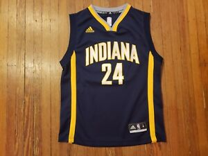 d8e6ec91 Indiana Pacers Paul George Blue Adidas NBA Jersey Youth Size M | eBay
