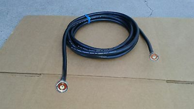 50 ohm US MADE  LMR-240  N Male to N Male  Ham Radio RF Coaxial Cable  25 ft