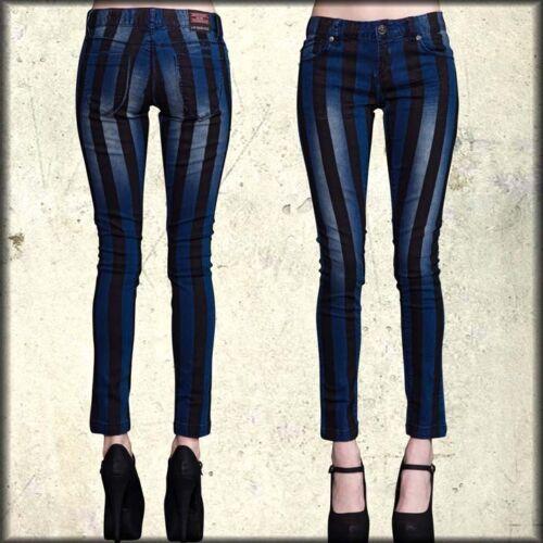 Lip Jean Black Blue Dame Ny Skinny Stripes Stretch Vertical 30 25 Service 4Rq4Y
