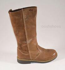 Primigi Girls Hiva Gore-Tex Tan Leather Zip Boots UK 9 EU 27 US 9.5