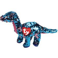 7617d01986b Ty Beanie Babies 36432 Flippables Medium Tremor Blue Dinosaur Diplodocus  Sequin