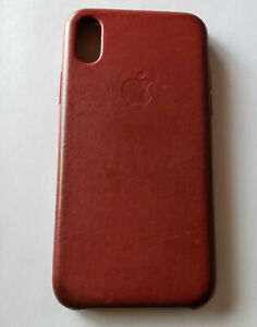 size 40 d757c a622f Details about USED Original Apple iPhone X Leather Case ( MQTE2ZM/A) - RED