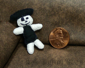 Halloween-Skeleton-Pirate-Plush-Doll-Artisan-Unique-Dollhouse-OOAK-Miniature