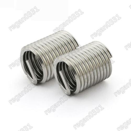 100pcs M3x0.5x1D Metric Helicoil Screw Thread Wire Inserts 304 Stainless Steel