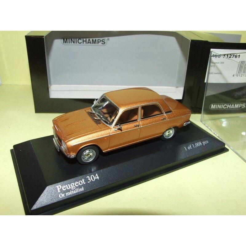 Peugeot 304 1972 Gold oder m é tallis é minichamps 1 43