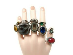 Sterling-Silver-Ring-Lot-Size-8-11-Rings