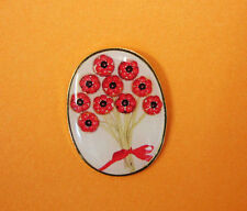 BRAND NEW 2016 POPPY BROOCH  BADGE  PIN  DONATION MADE