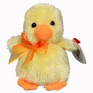 Billingsly the Duckling Ty Basket Beanie Baby Easter Retired MWMT Collectible