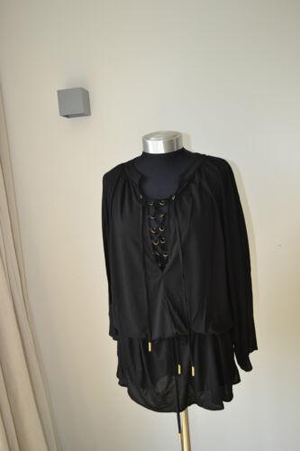 £295 Dress Melissa New Kaftan Beach Medium Cover Natasha Up Black Size Odabash qpwq8SP