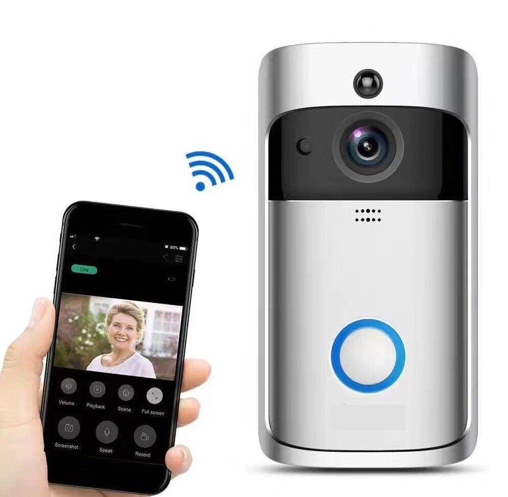 Wifi sans Fil Vidéo Sonnette Deux Sens Talk Smart Porte Appareil Photo +