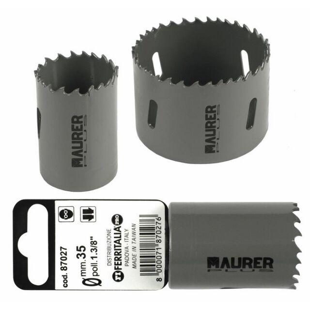 Fresa a Tazza Bimetallica Maurer Plus  70 mm per metalli, legno, alluminio, PVC