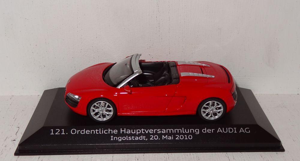 Schuco audi r8 spyder 121.ordentliche hauptversammlung 2010 1 43 pc (r1_5_6)