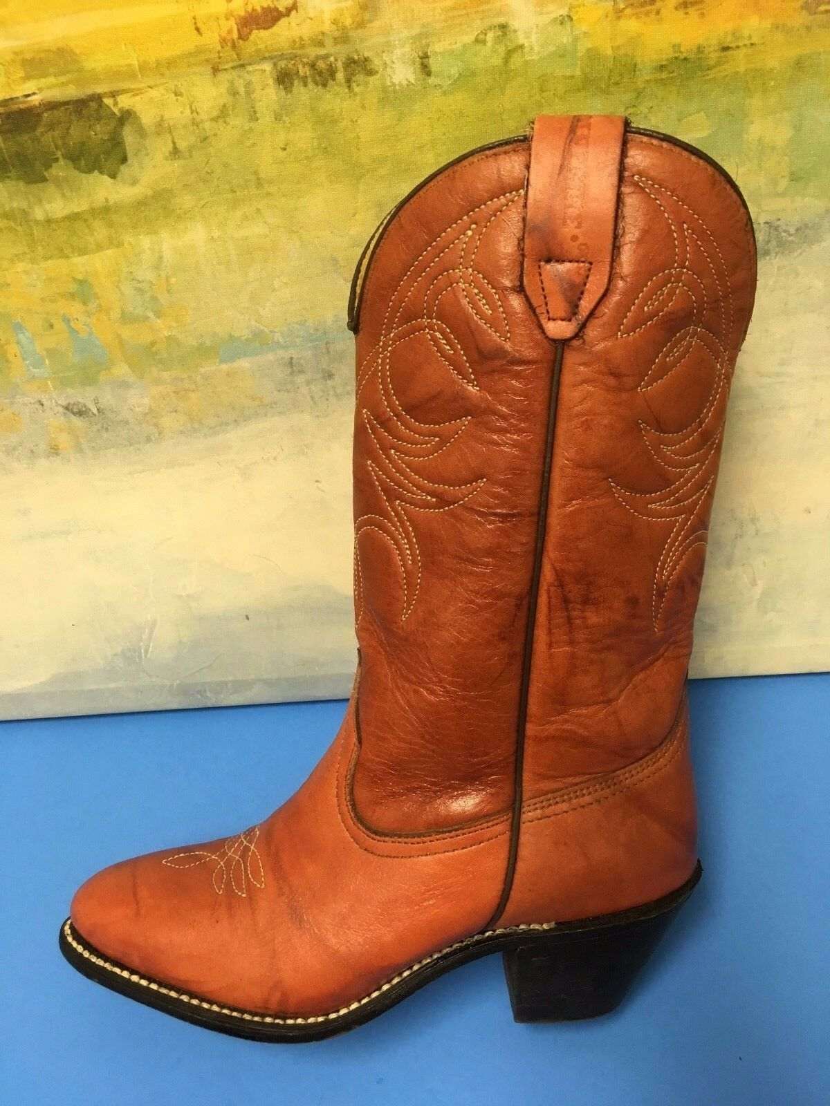 Womens Brown Cowboy Boots  7 M