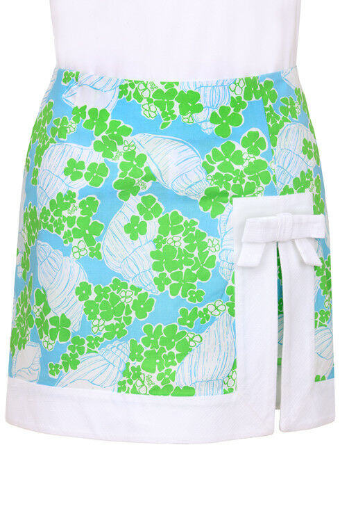 138 Lilly Pulitzer Jarvey Beach Club bluee Toss-Up Bow Skort Skirt Shorts 0