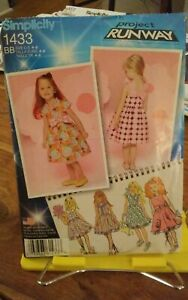 Oop-Simplicity-Project-Runway-1433-girls-summer-dress-back-bow-ruffle-sz-4-8-NEW