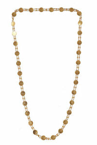 Gorgeous-Dubai-Handmade-Coin-Chain-Necklace-In-Solid-Hallmark-18K-Yellow-Gold