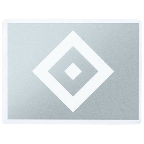Aufkleber Sticker Raute transparent silber Hamburger SV HSV