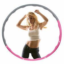 NUOVO Hula Hoop Fitness Esercizio ABS ALLENAMENTO PALESTRA Professional ponderata Pink & GREY
