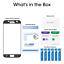 miniature 6 - amFilm Samsung Galaxy S7 Full Cover Tempered Glass Screen Protector (Black)