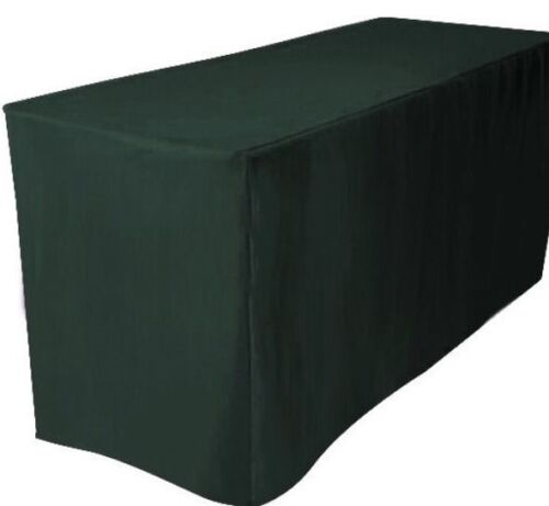 Fitted Polyester Table Cover Trade show Booth DJ Tablecloth Hunter Green 5/' ft