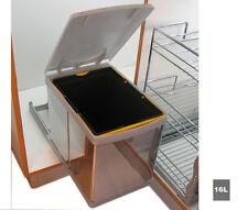 Tira Fuori Sotto Lavello Cucina Acciaio Inox Riciclaggio Bidone Dei Rifiuti 16 L