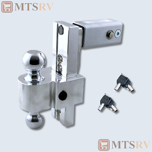 2 Ball Hitch >> Details About Fastway Locking Adjustable 8 Drop 2 Ball Hitch Made For 2 1 2 Receivers Usa