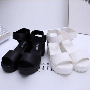 WOMENS-PLATFORM-WEDGE-HEEL-HIGH-LADIES-CHUNKY-STRAPPY-SANDALS-SHOES
