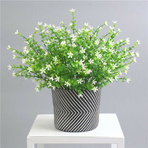 Artificial Plants Indoor Outdoor Fake Flower Leaf Foliage Home Decor N3 Ebay
