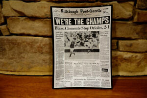 Vintage-Trinket-Tray-1971-Pirates-We-039-re-The-Champs-Pittsburgh-Post-Gazette