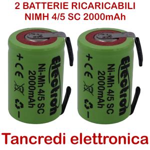 2x-Batteria-ricaricabile-NiMh-4-5-SC-1-2V-2000mAh-terminali-saldare-lamelle-tabs