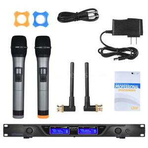 Professional-2-Channels-UHF-Wireless-Microphone-Mic-System-for-Karaoke-KTV