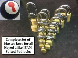 Locksmith-tool-Master-keys-for-ALL-IFAM-Keyed-Alike-padlocks-1st-P-amp-P