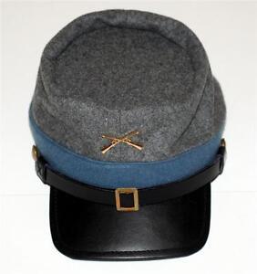 CSA CONFEDERATE REBEL ARMY Civil War Infantry Mens KEPI CAP HAT M L XL New