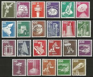 Germany Berlin 1975-1982 MNH Industry & Technology Definitives complete 23v